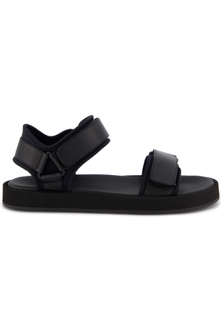 Hook and Loop Sandal Black