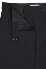 Waistline and zipper detail image of The Row Jonell Pant