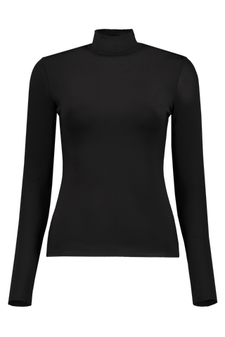 Long Sleeve Rudd Turtleneck Top In Black