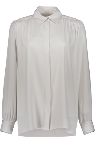 Long Sleeve Choi Blouse In Light Grey