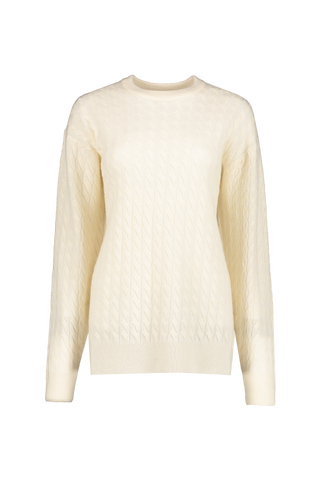 Front view image of The Row Minorj Crewneck Sweater