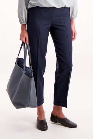 Model Image of The Row Park Tote in Chrome Blue