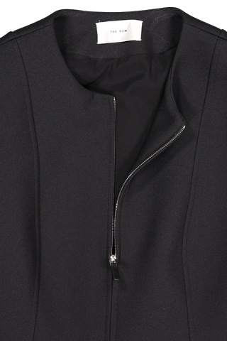 Front collar and zipper detail image of The Row Saori Jacket