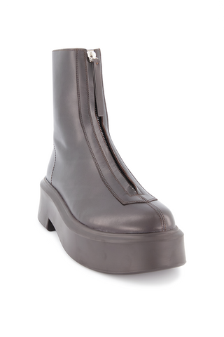 Front angled view image of The Row Zipped Boot Espresso