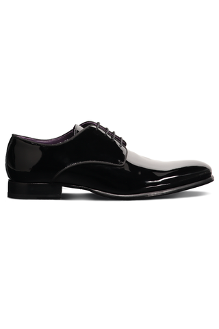 Berman Lace Up Black Patent