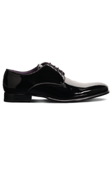 MSTK BERMAN LACE UP BLACK PATENT