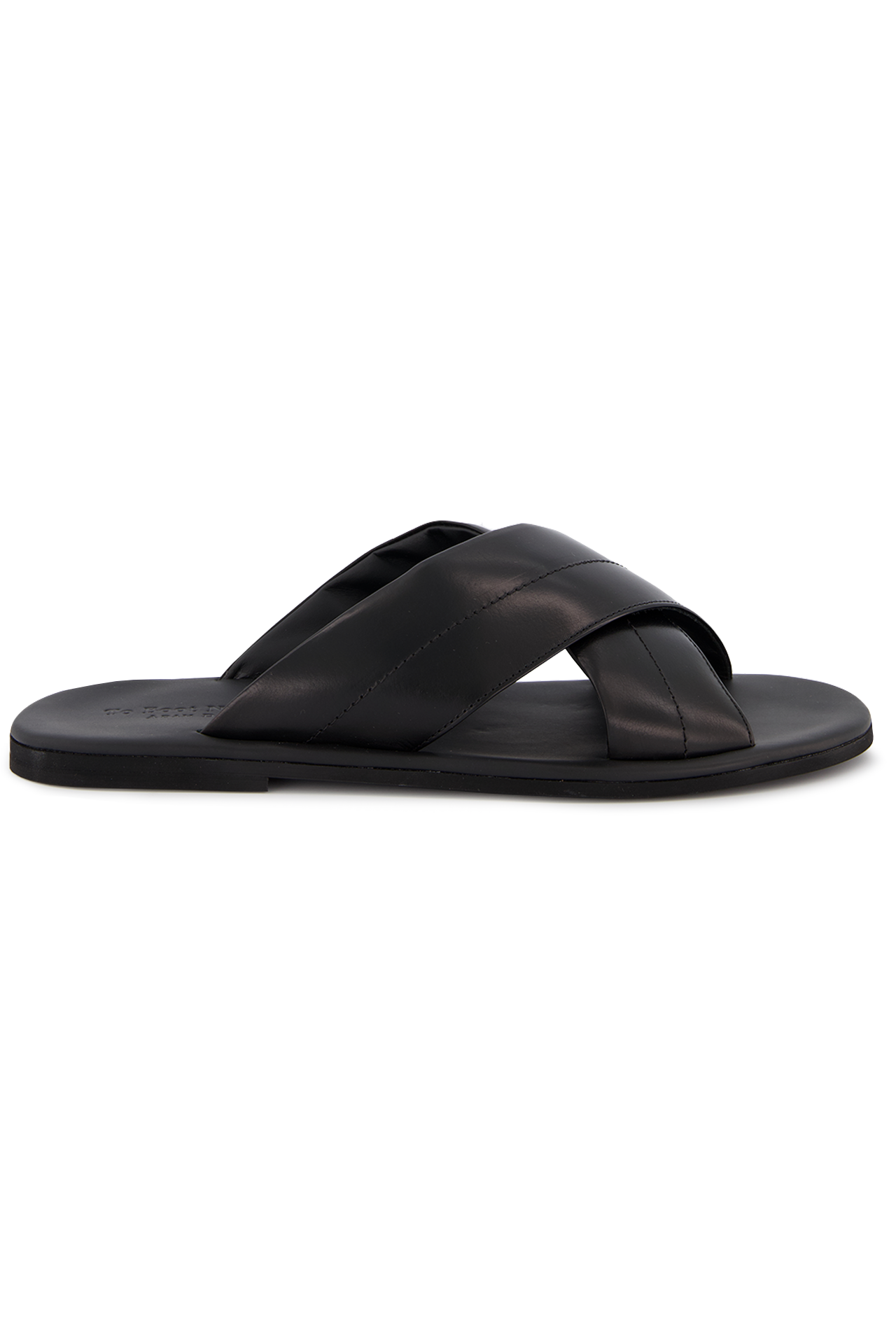 Side view image of To Boot New York Costa Rica Slide Sandal Nero