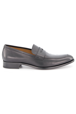 Side view image of To Boot Dearborn Leather Flex Penny Loafer Butter Nero