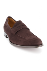 Front angled view image of To Boot Men's Dearborn Suede Flex Penny Loafer