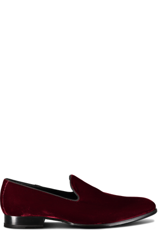 Formal Velvet Loafer Bordo