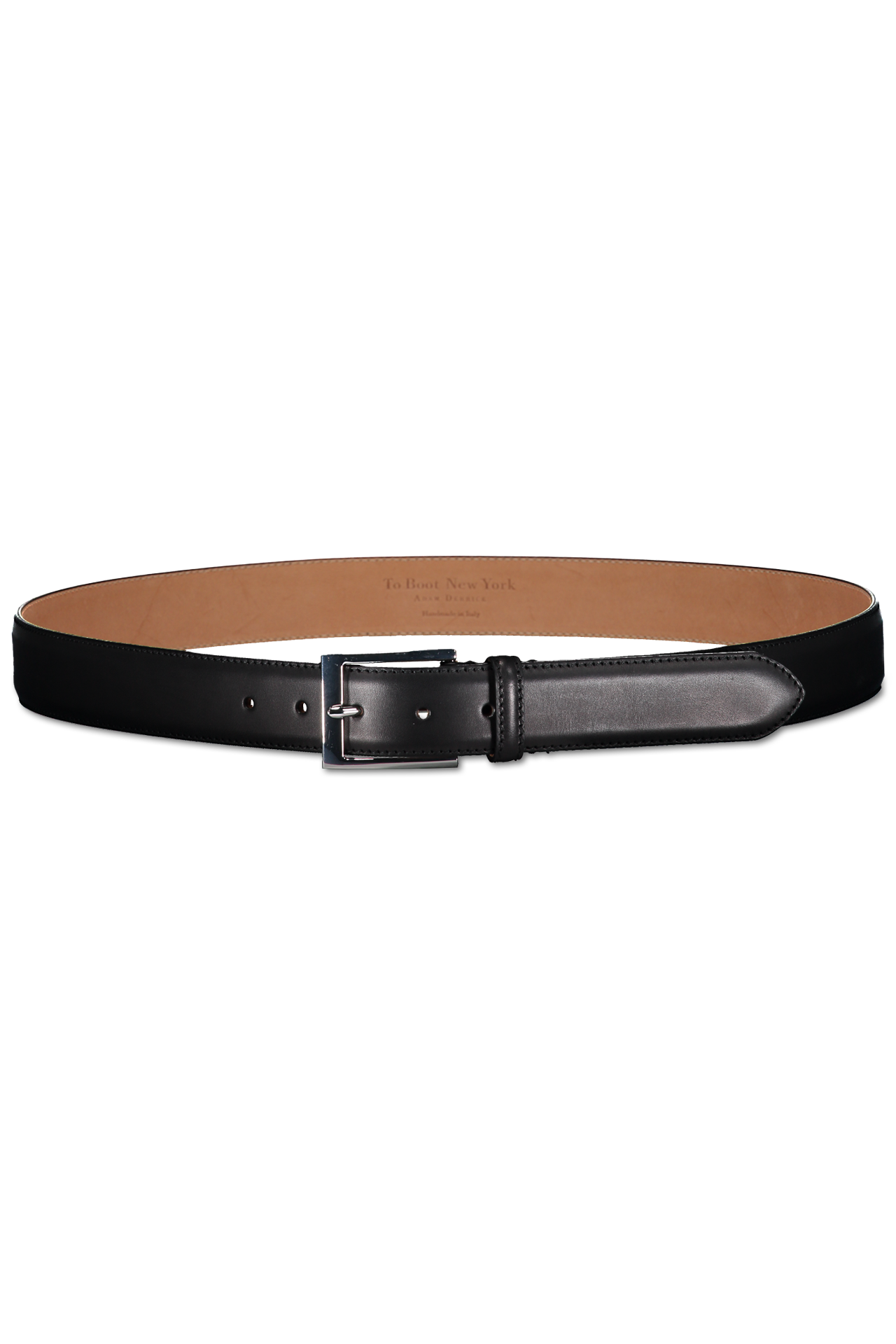 LEATHER BELT BERRY BLACK
