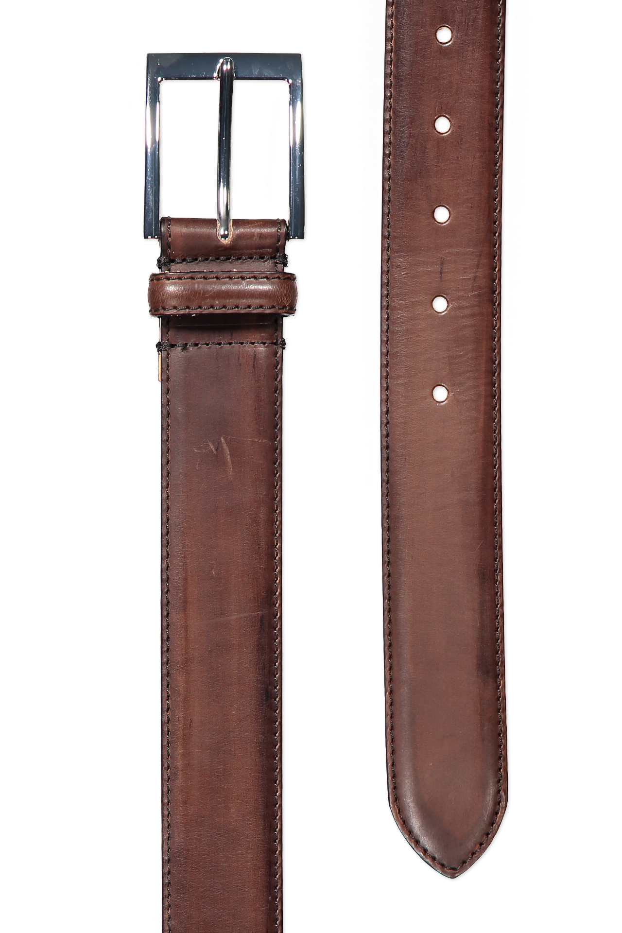 LEATHER BELT MED BROWN