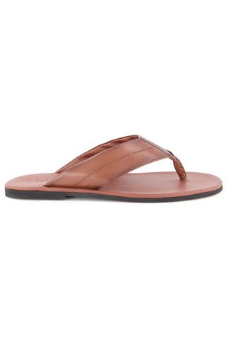 Side view image of To Boot New York Maui Flip Flop Sandal Marrone