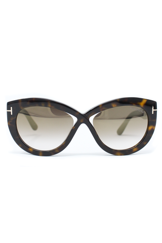 Front image of Tom Ford Diane Sunglasses Dark Havana