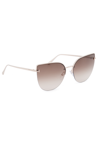 Front  angled view image of Tom Ford Women's Ingrid Metal Sunglasses
