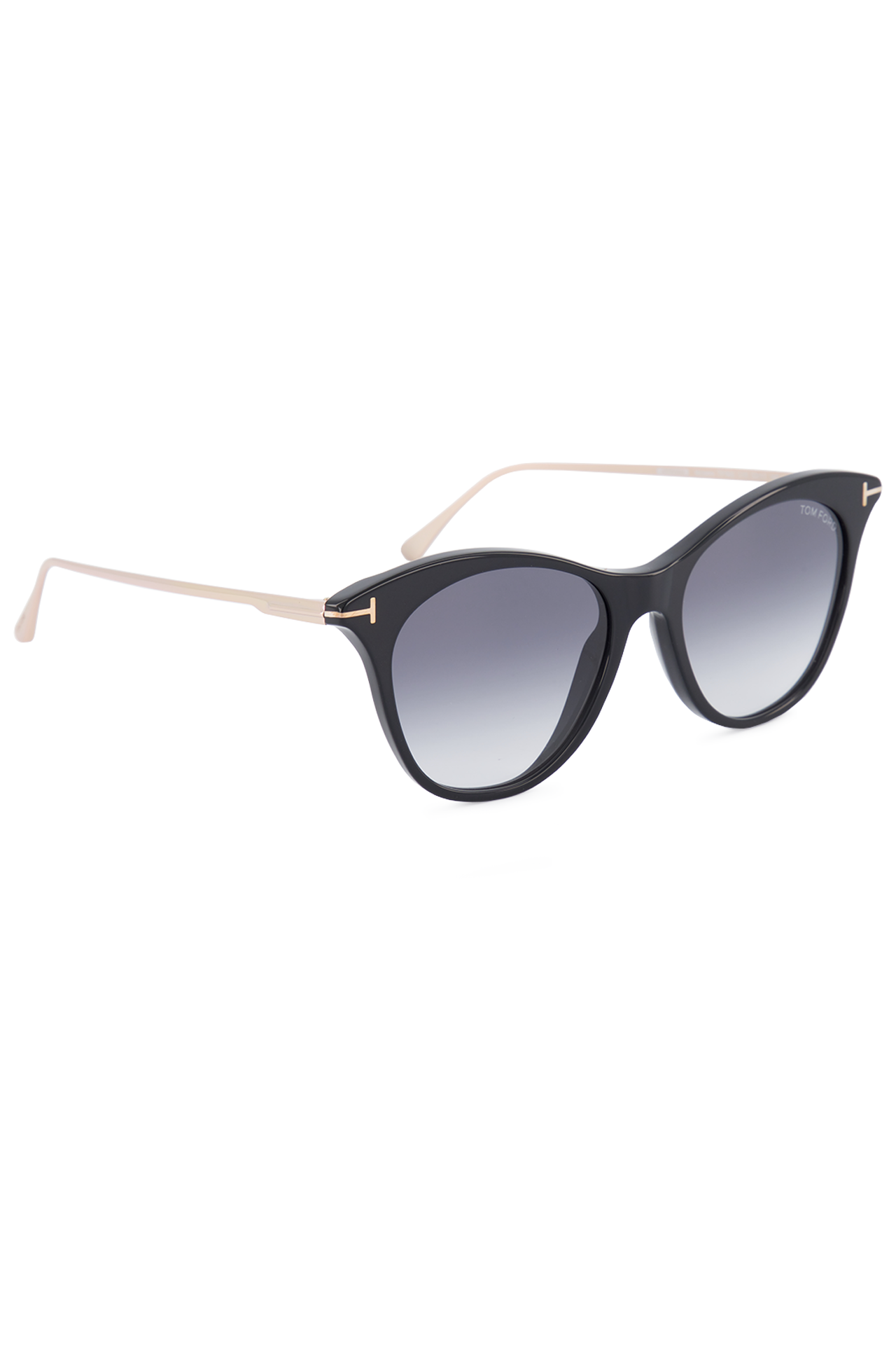 Front angled view image of Tom Ford Women's Micaela Black Sunglasses