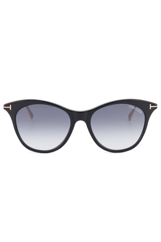 Front view image of Tom Ford Women's Micaela Black Sunglasses