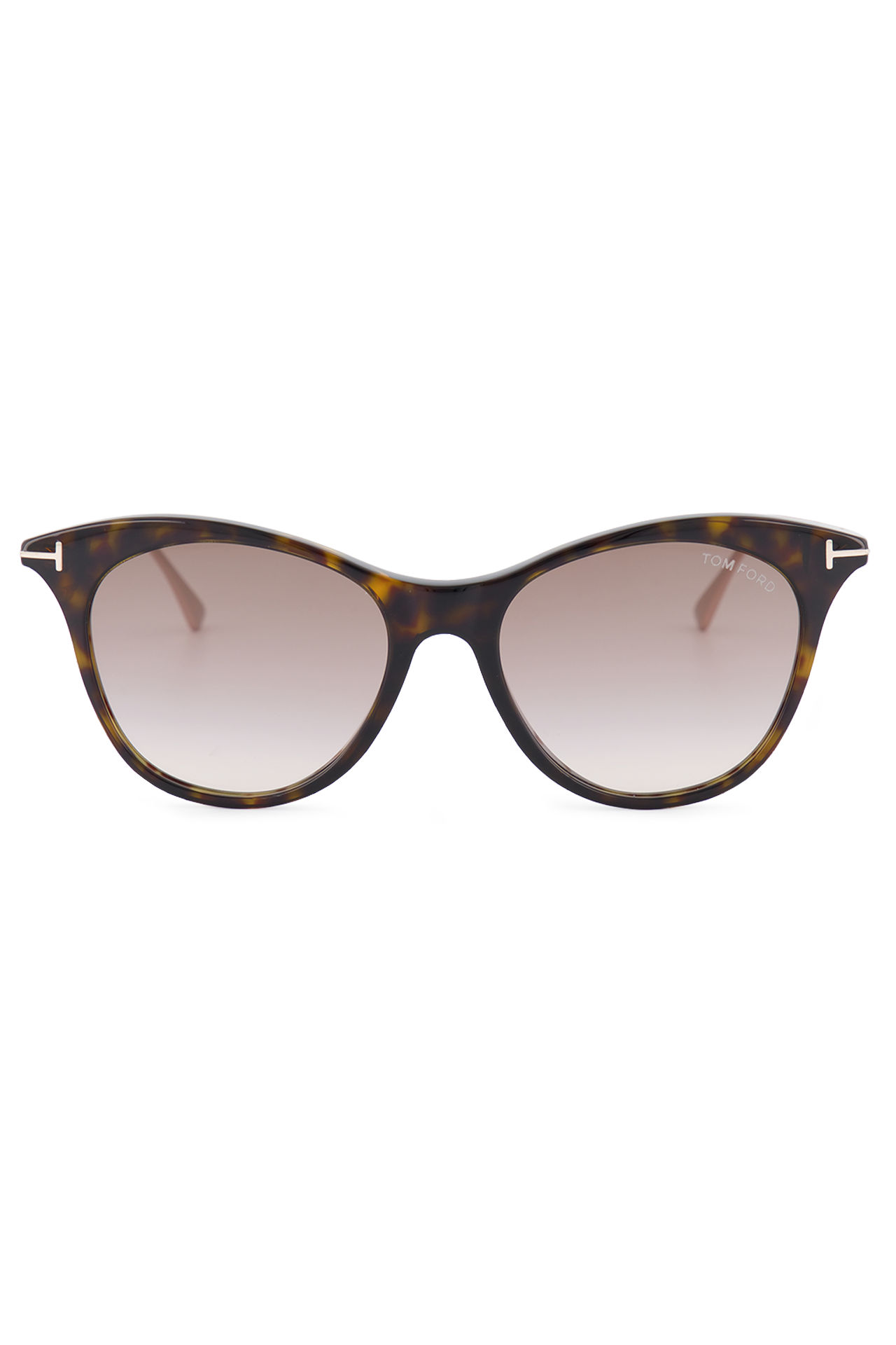 Front view image of Tom Ford Women's Micaela Dark Havana Sunglasses