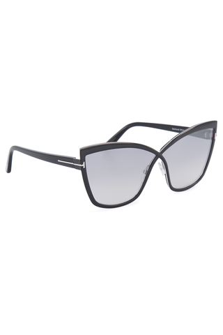 Front angle view image of Tom Ford Women's Sandrine Black Sunglasses