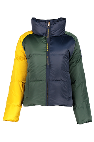 Front view image of Tory Burch Color Block Reversible Puffer Jacket