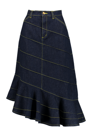 Pintuck Cascade Skirt