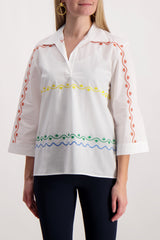 Scallop Embroidered Tunic