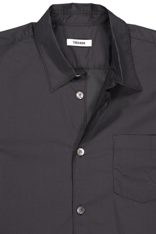 Collar Detail Classic Shirt Sport Coated Cotton