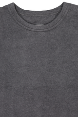 Front collar detail image of TS(S) Long Sleeve T-Shirt Grey