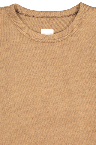 Front collar detail image of TS(S) Short Sleeve T-Shirt Camel