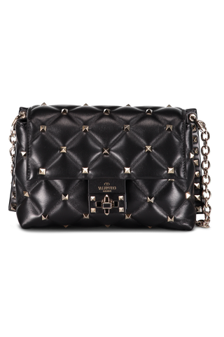 Candystud Medium Shoulder Bag Nero