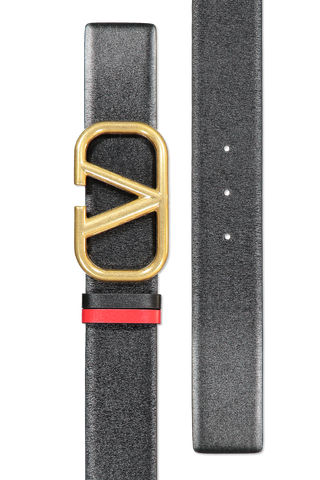 Front buckle detail image of Valentino Go Logo Belt H.40