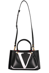 Front image with strap detail of Valentino Go Logo Escape Small Tote