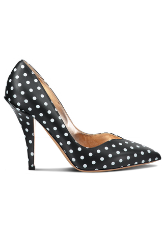Heart Pump Polka Dot Black/White
