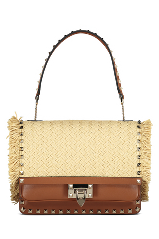 Raffia Crossbody Bag Natural