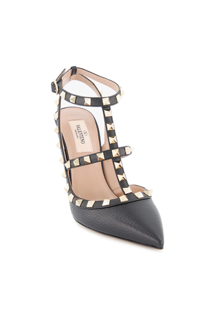 Angle Image of Rockstud Ankle Strap Pump