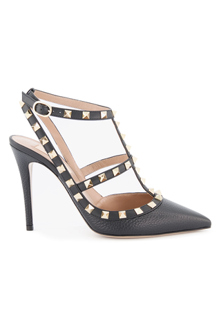 Side Image Rockstud Ankle Strap Pump