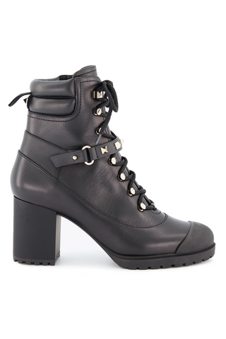 Side view image of Valentino Rockstud Combat Boot