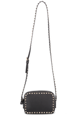 Front Image with Strap Rockstud Crossbody Bag Nero