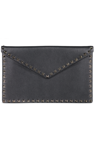 Rockstud Large Pouch Nero