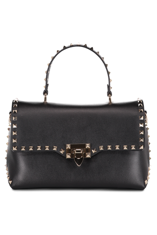 Rockstud Single Handle Bag Nero