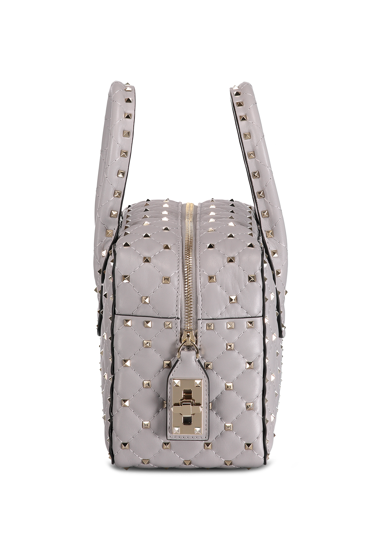 Rockstud Spike Medium Duffel Bag Pastel Grey