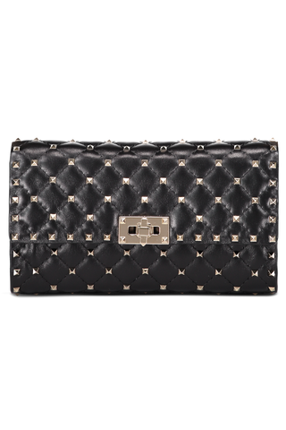 Rockstud Spike Shoulder Bag Nero