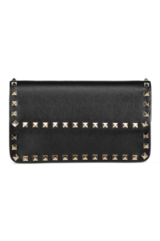 Front image of Valentino Rockstud Wallet On Chain