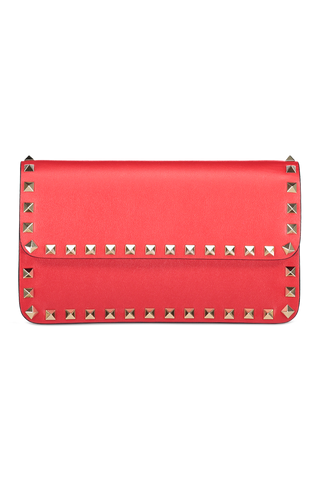 Front image of Valentino Women's Rockstud Wallet On Chain