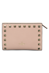 Rockstud Wallet Rose