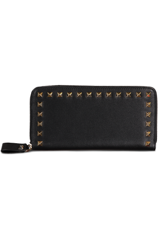 Rockstud Zip Wallet Nero