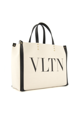 Small VLTN Print Canvas Tote