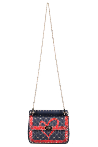 Front hanging image of Valentino Spike It Medium Shoulder Bag