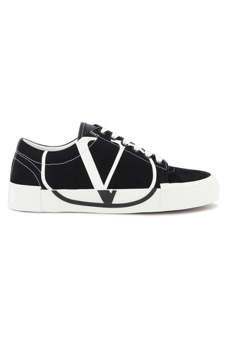 Side view of Valentino Tricks Canvas Sneaker