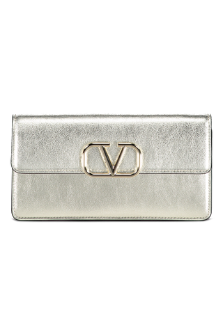 V-Logo Wallet On Chain Metallic